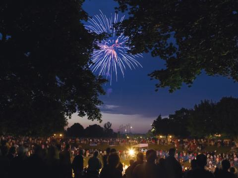 Fireworks illuminate the Kohler skies on the 4th of July