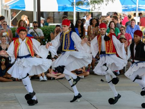 Traditional dancing during the Columbus Greek Festival